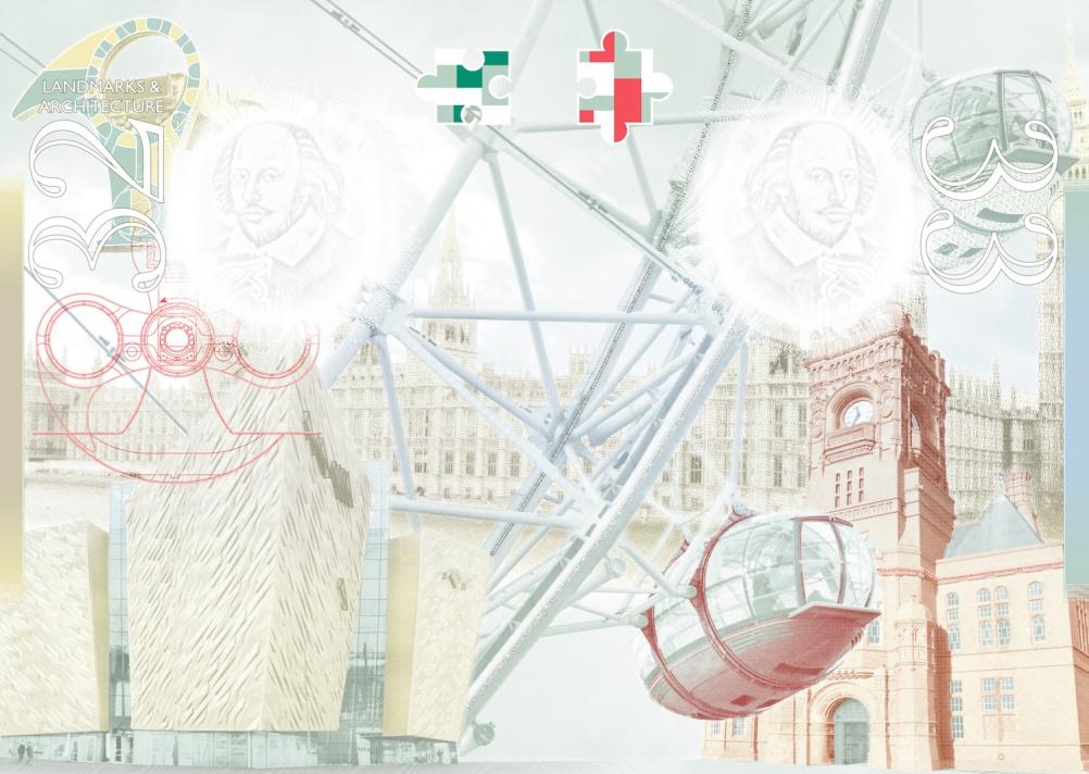 Brilliant Buildings: the Houses of parliament, The London Eye, The Pierhead, The Falkirk Wheel, Titanic Belfast