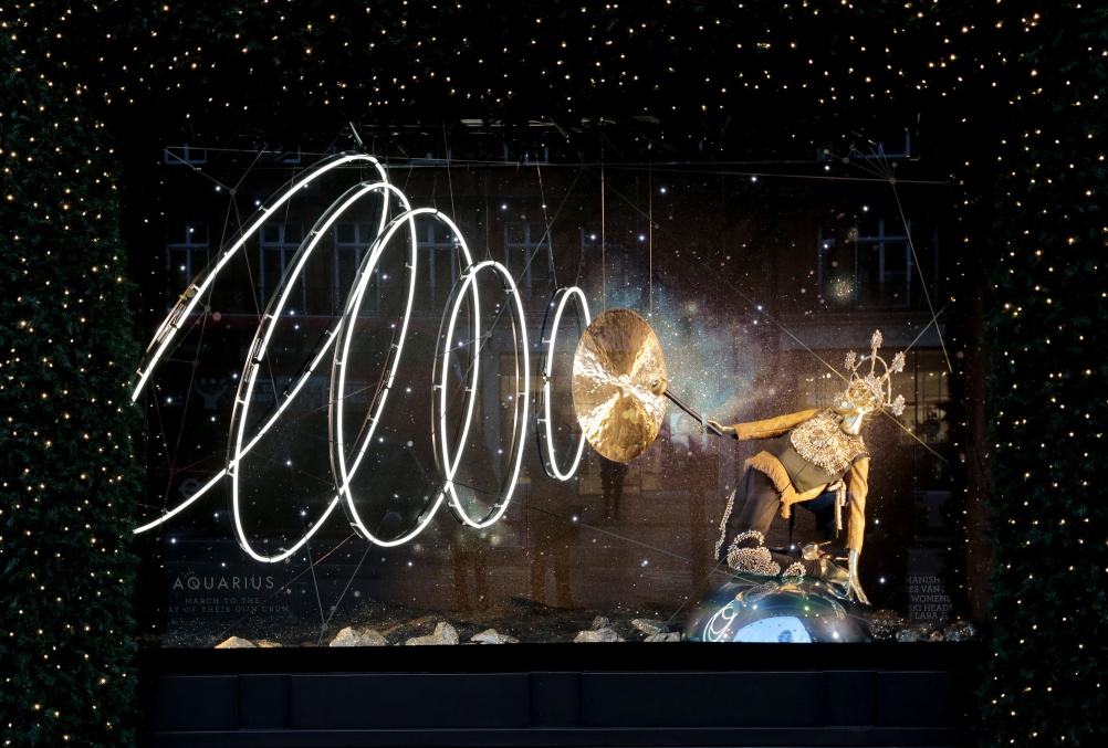 The unveiling of the Christmas Windows 2015 at Selfridges London. PHOTO MATT WRITTLE © copyright Matt Writtle 2015.