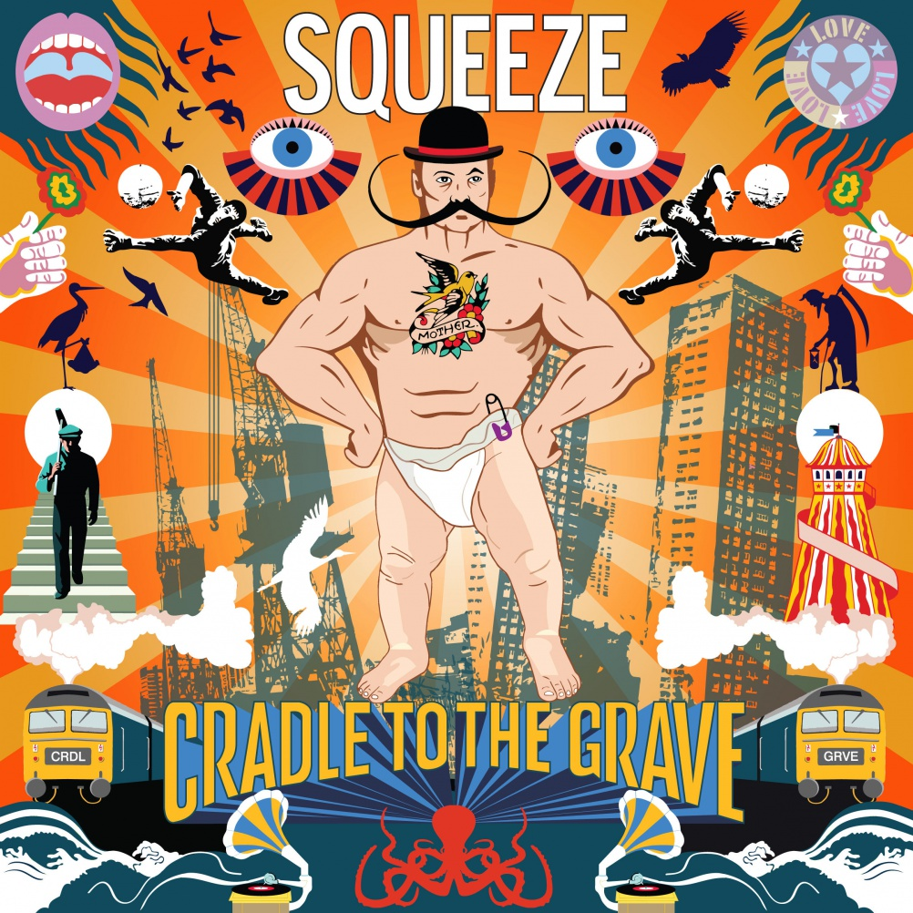 Squeeze - Cradle to the Grave. Design & Art Direction Stylorouge, Photography Rob O'Connor