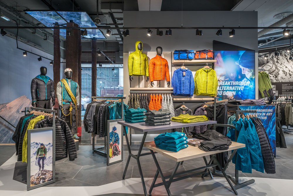 North face outdoors brand embraces nature with new store for Retail interior design agency london