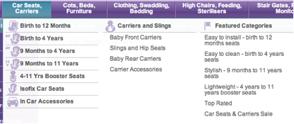 E-commerce drop-down menus: examples and best practices – Econsultancy