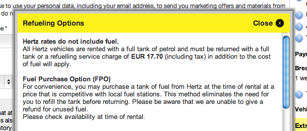 Hertz Monthly Rental >> Are car rental websites being upfront about costs? | Econsultancy