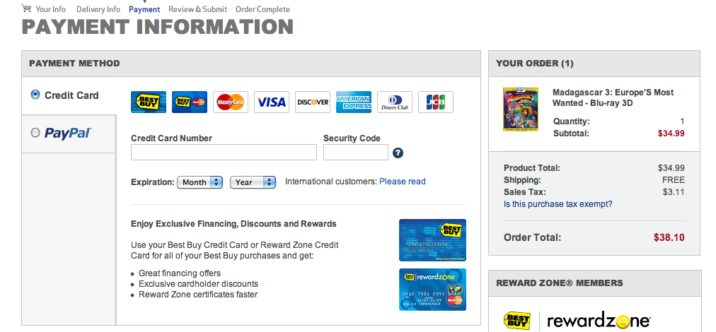 Best buy monthly payment options