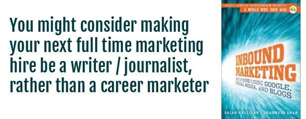 Inbound Marketing Journalist Quote