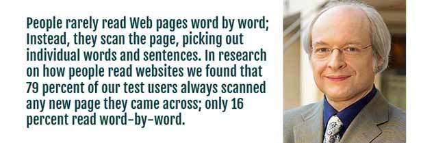 Jakob Nielsen - Since Users Don't Read