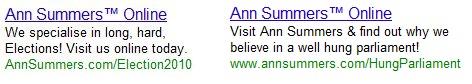Ann Summers paid search