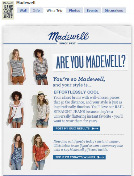 Madewell Drove Likes Of The Brand On Facebook Increased Its Email Database And Awareness