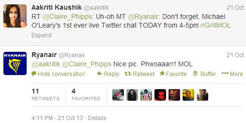 RyanAir social media fail