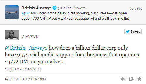 british airways twitter mistake