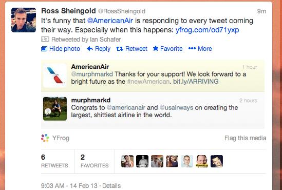 social media fails American Air