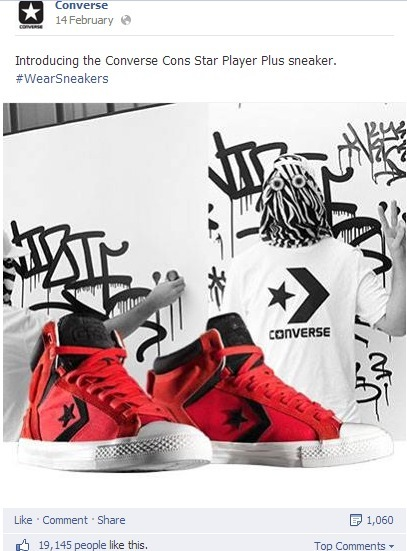 How Converse uses social media: Facebook, Pinterest, Google+, Vine, Instagram and Twitter