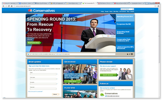 Conservatives home page