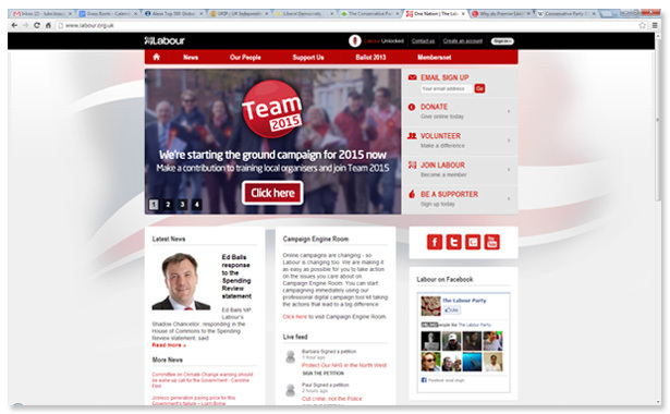 Labour home page