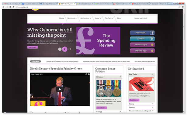 UKIP home page