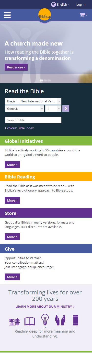 biblica website on mobile