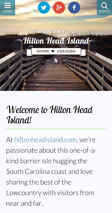 hiltonhead.com on mobile