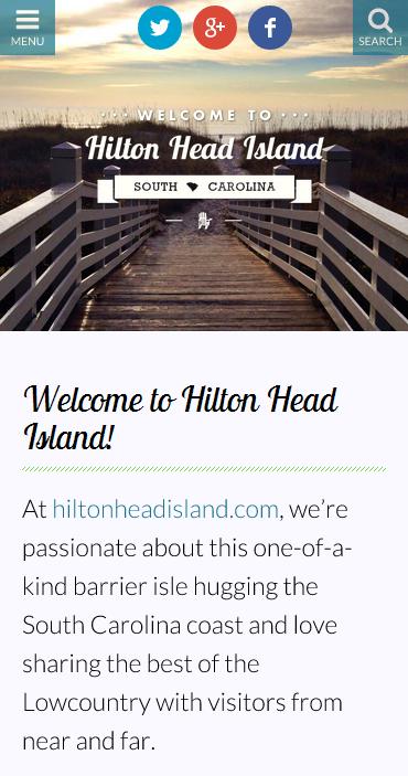 hiltonhead.com on mobile
