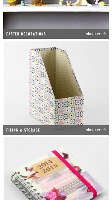 paperchase website on mobile