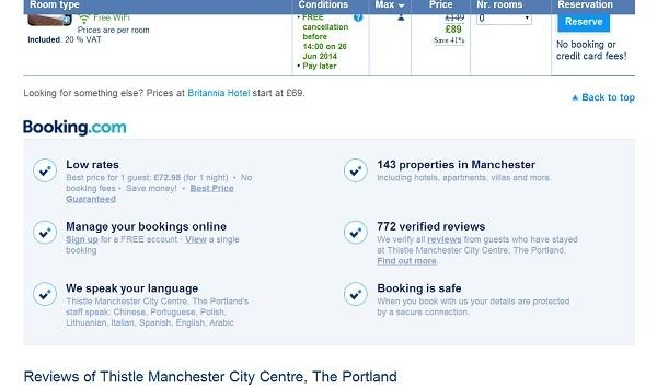 Booking.com USP