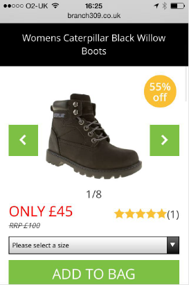 schuh mobile site