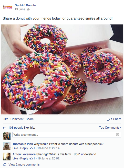 How delectable is Dunkin' Donuts' social media strategy