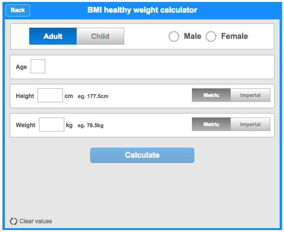 nhs body weight calculator