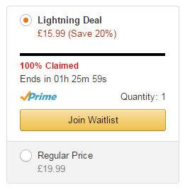 Amazon Lightening deals scarcity effect