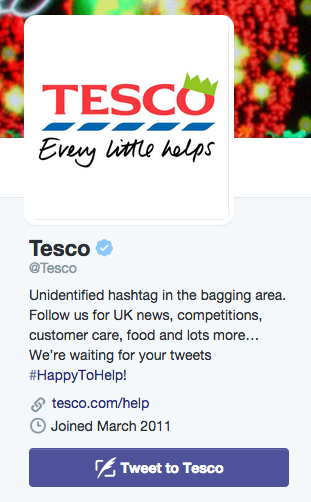 tesco customer service policy