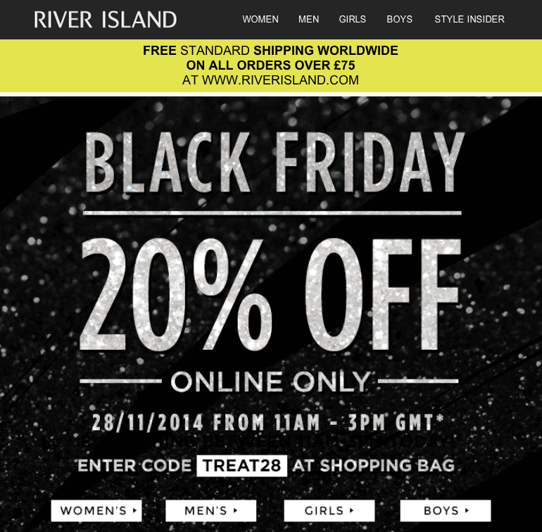 black friday email marketing eight retail examples econsultancy