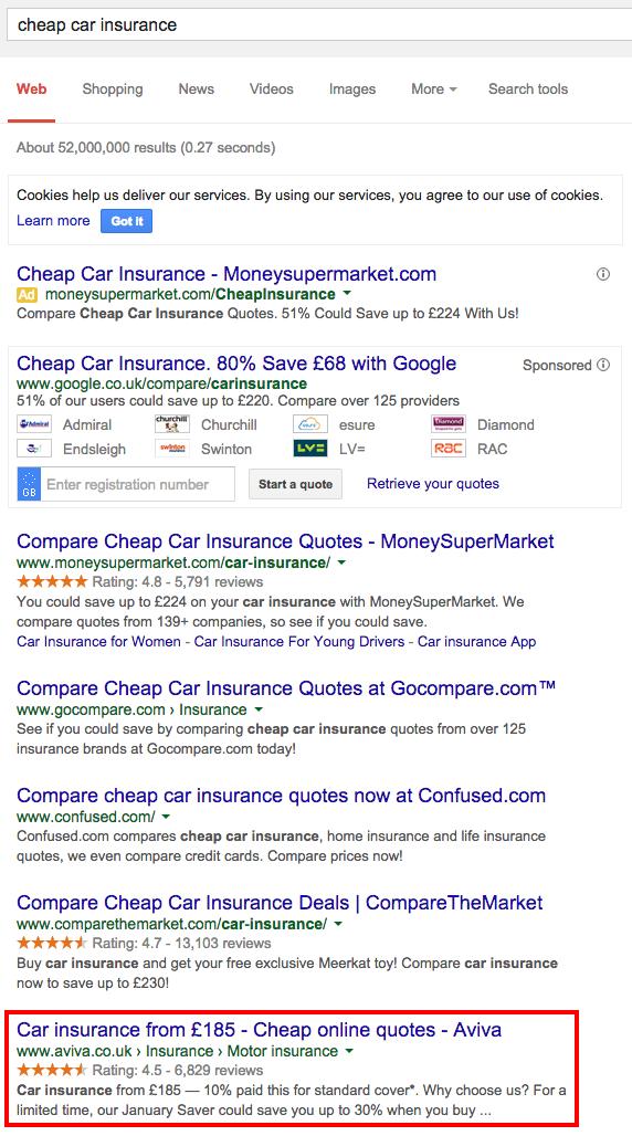 How Insurance Companies Use Search Marketing Aviva Econsultancy