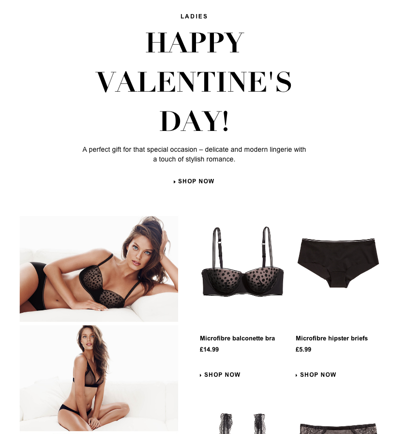 3b9407b058 11 Valentine s Day email creatives from the fashion industry ...