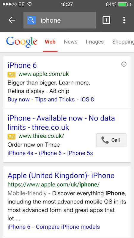 apple the mobile customer journey from search to checkout here are the results for iphone featuring top paid and organic results