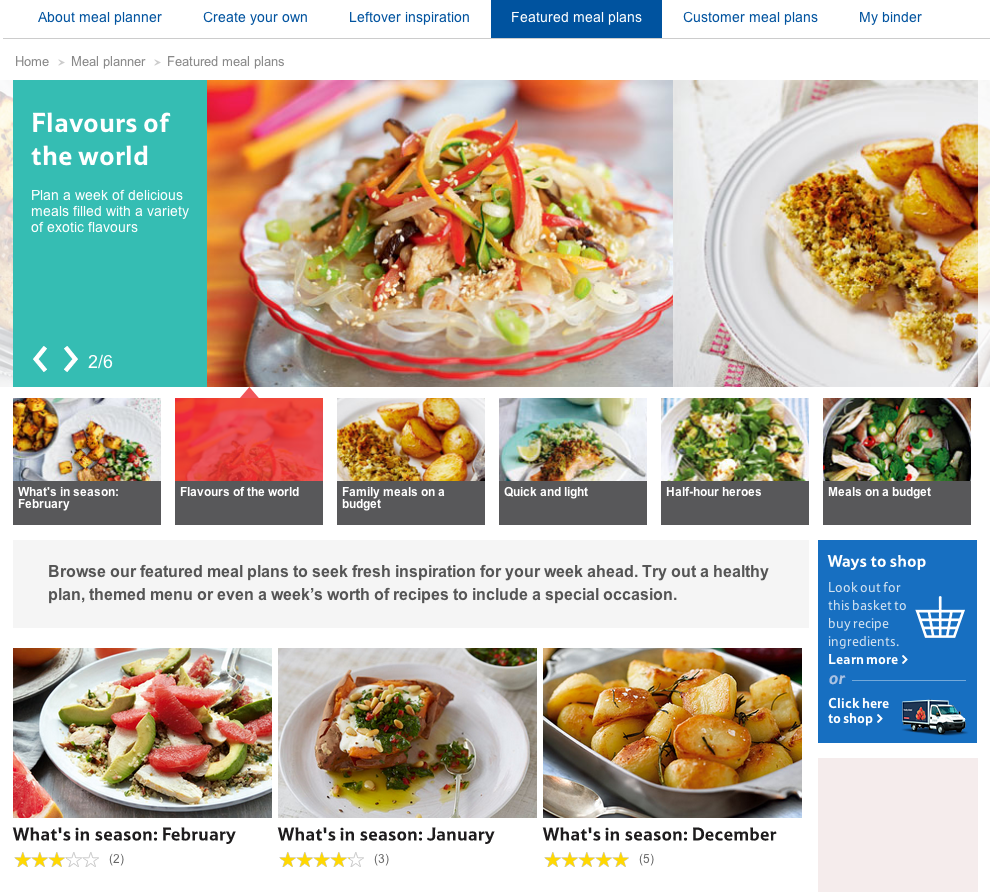 How do waitrose and tesco use on site content marketing econsultancy however there arent any from celebrity chefs or food bloggers which would be a good way to get people to use the planner forumfinder Image collections