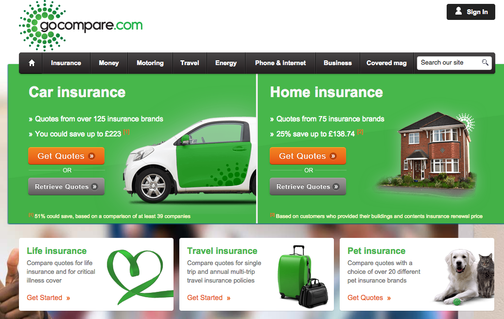 How Do Home Insurance Landing Pages Perform Econsultancy