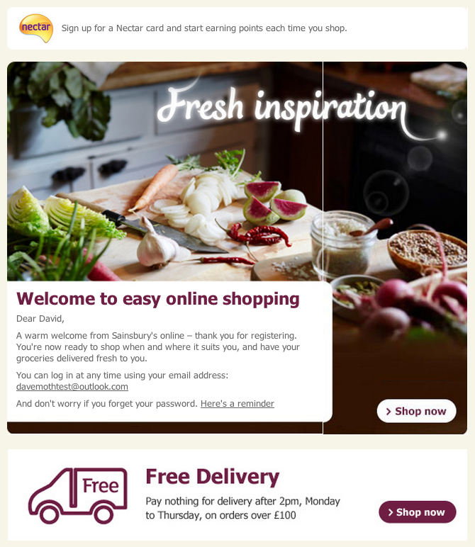 How grocery retailers use email to convert new customers – Econsultancy