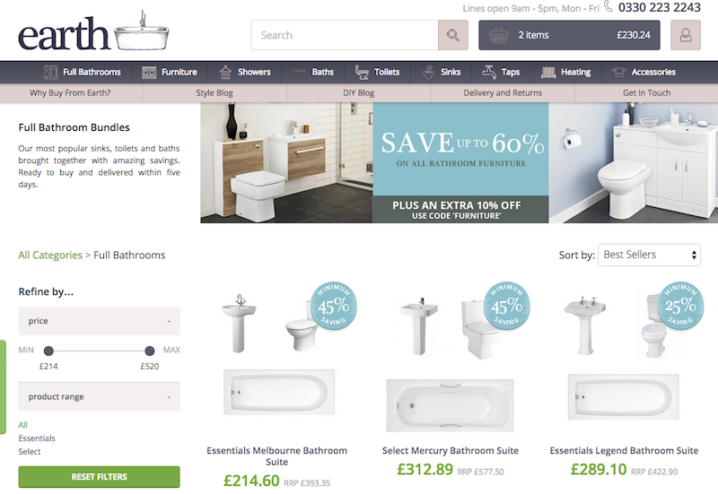 Start Me Up! A profile of Earth Bathrooms – Econsultancy