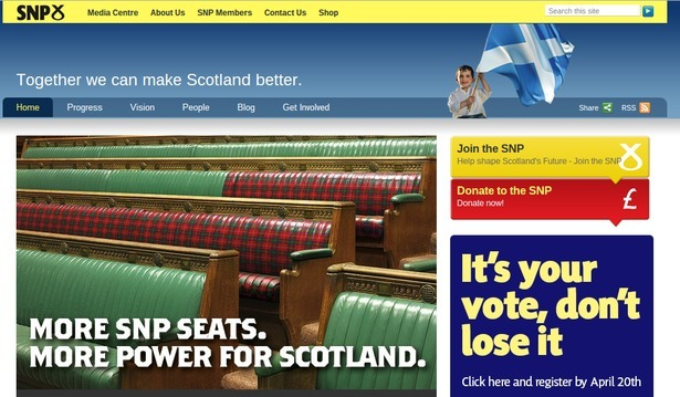 SNP's website