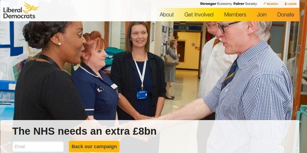 Lib Dem website