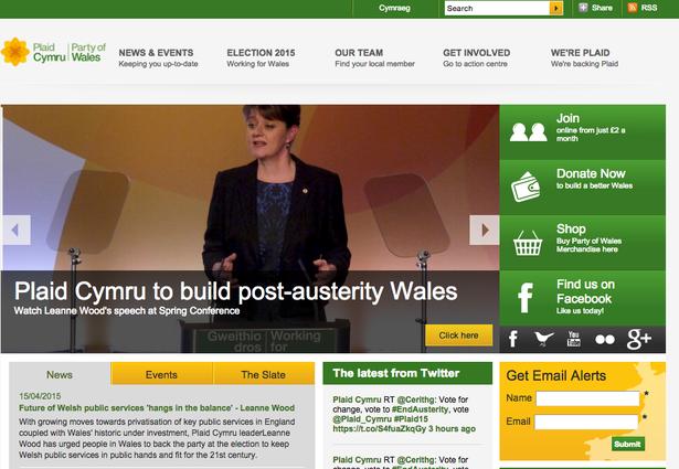 Plaid Cymru website