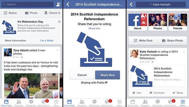 Facebook - Scottish Referendum