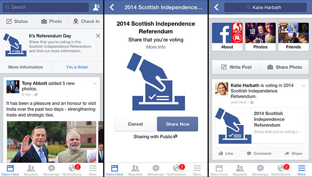 Facebook - Scottish Referendum