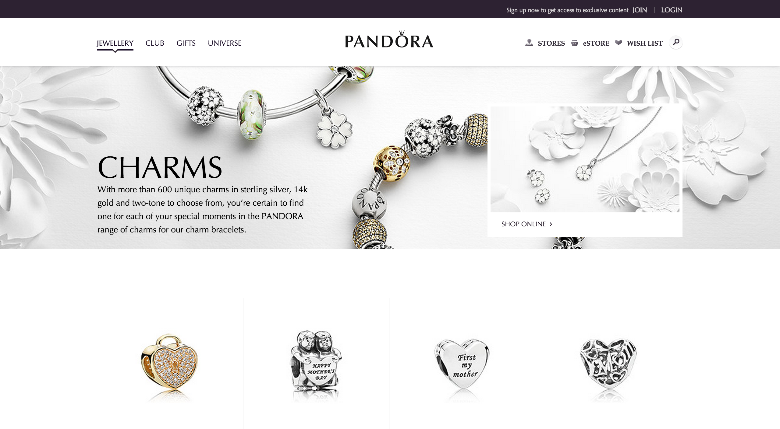 Pandora Customer Journey From Search To Checkout Econsultancy