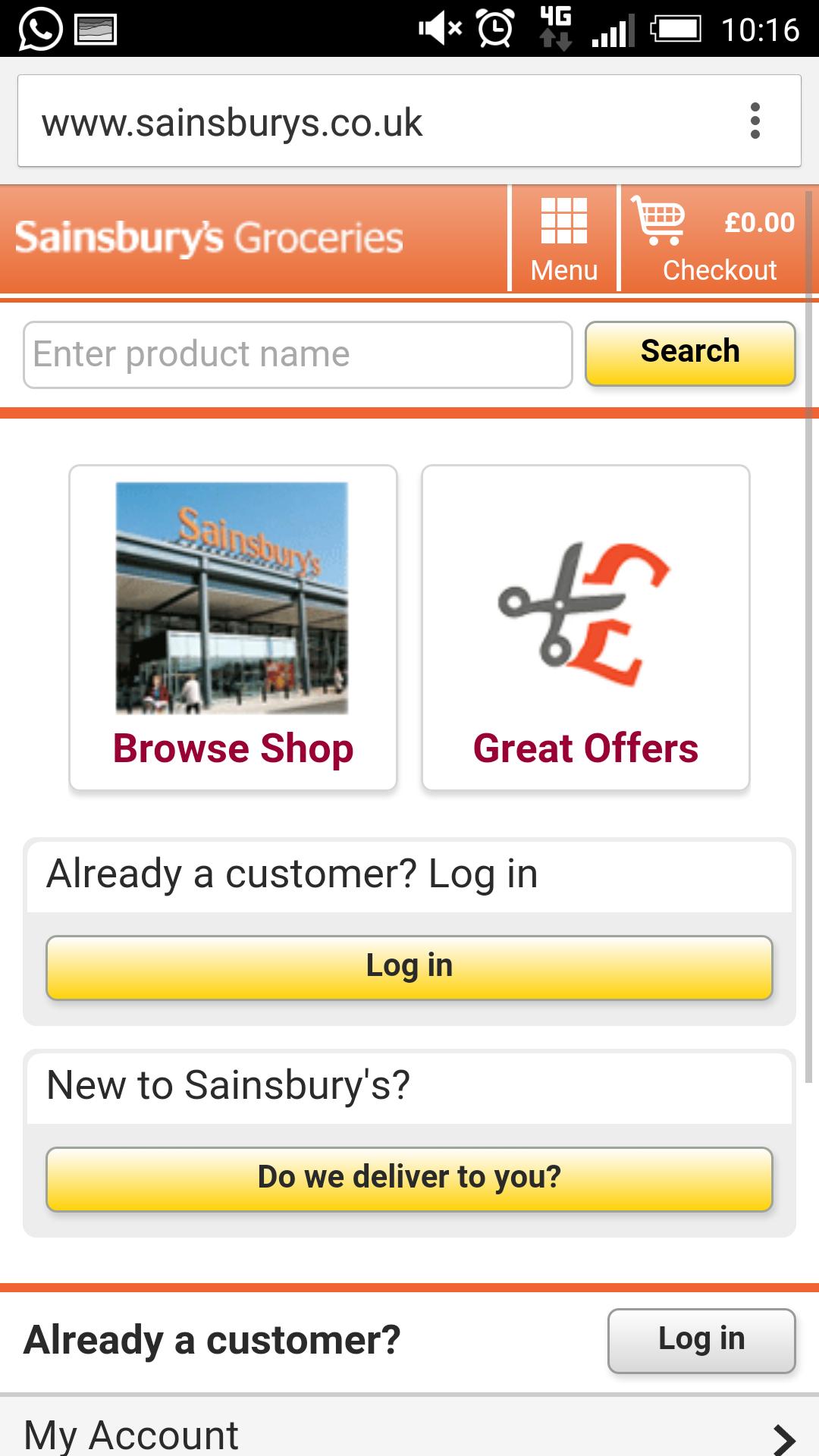 Sainsbury's mobile site