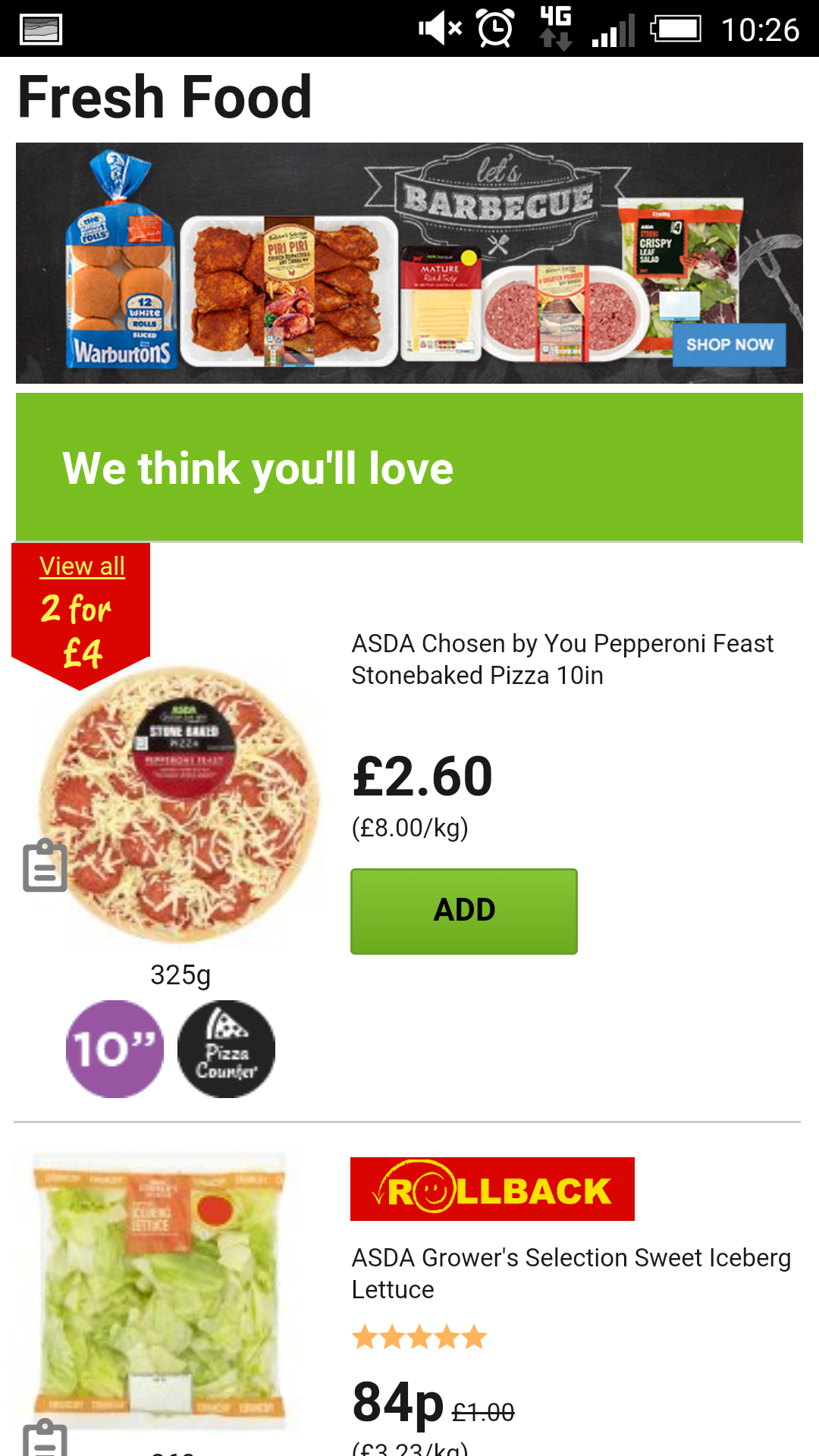 Asda mobile site