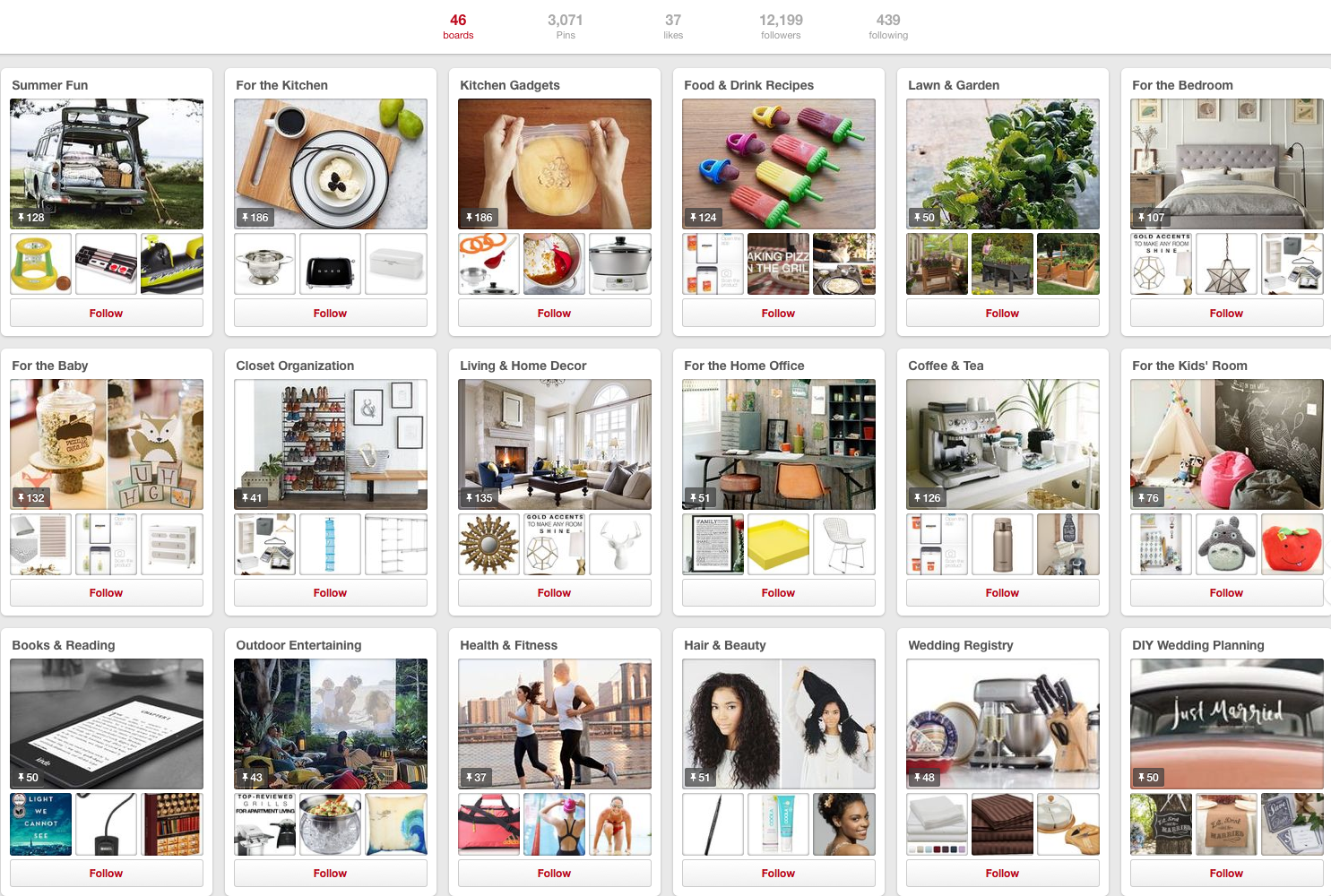 How the top five UK ecommerce brands use Pinterest
