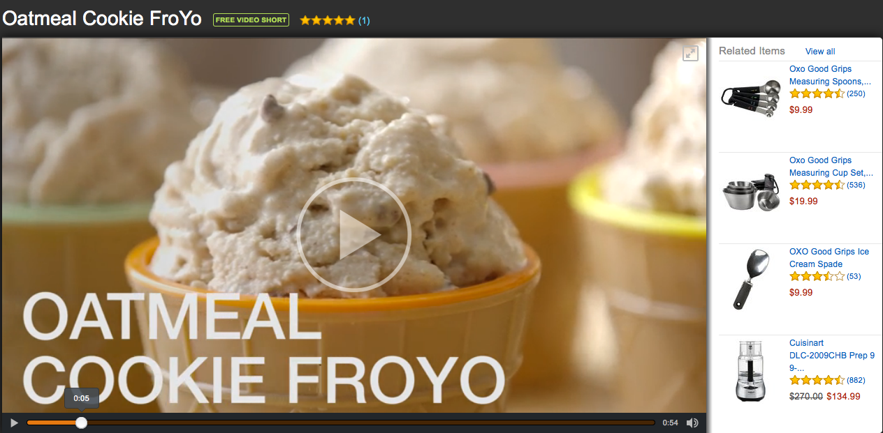 Oatmeal cookie froyo video