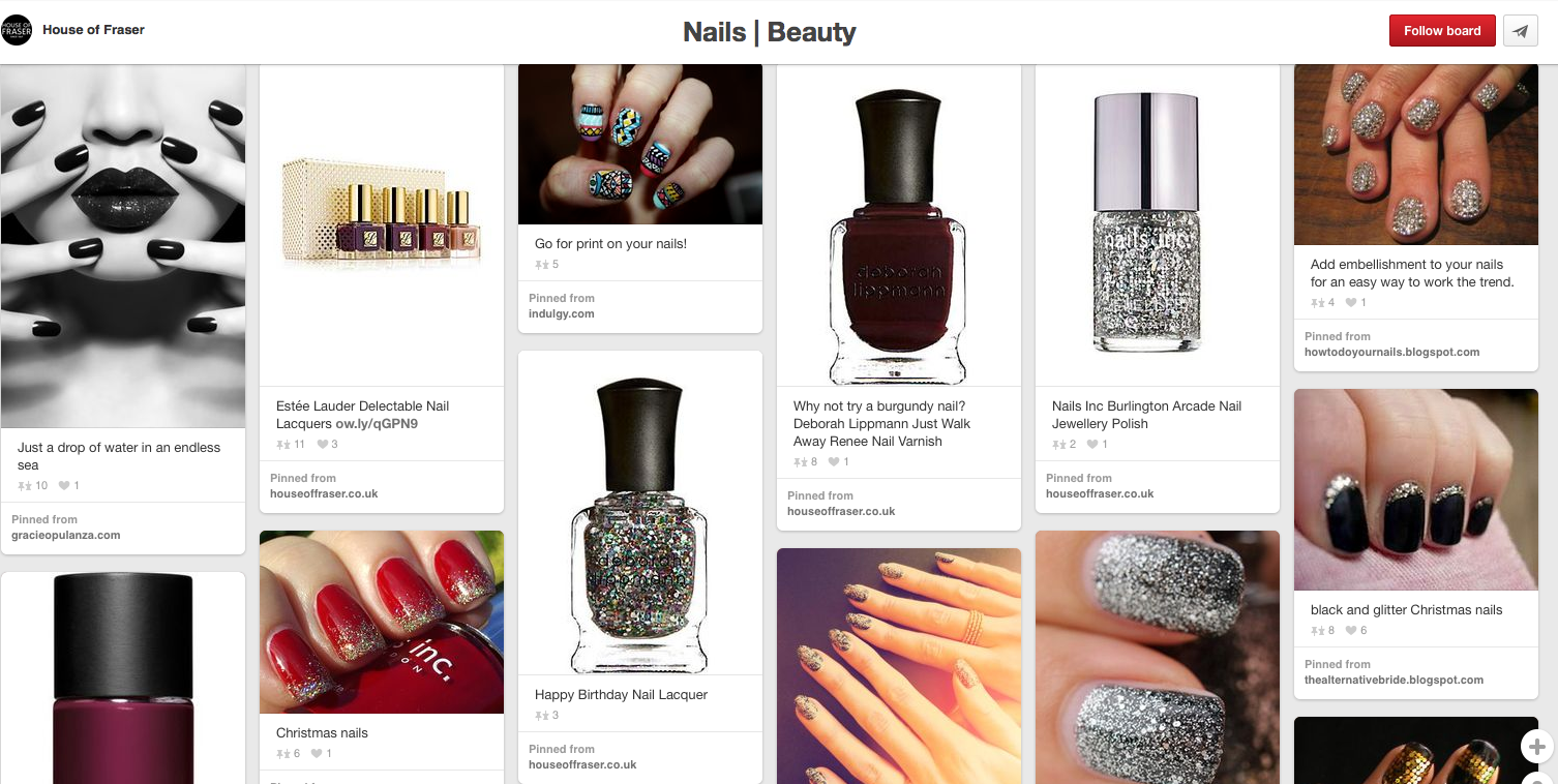 House of Fraser nails and beauty