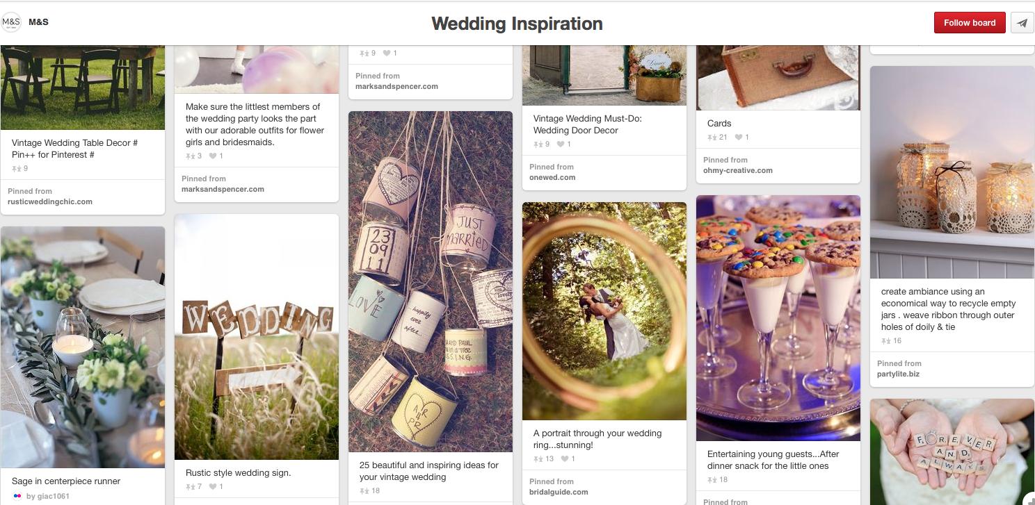 Marks & Spencer wedding inspiration