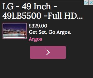 Argos retargeting