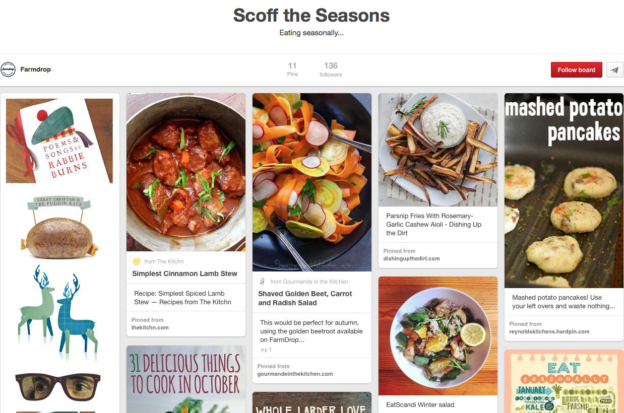Farmdrop Pinterest page